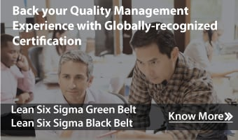 Enroll for Quality Management Courses: Six Sigma Green Belt, Six Sigma Black Belt, and more