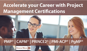 Enroll for Project Management Courses: PMP, PRINCE2, CAPM, PMI-ACP, PgMP, and more