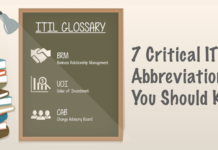 7 Crucial ITIL Abbreviations You Should Know