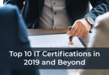 Top 10 IT Certifications in 2019 and Beyond