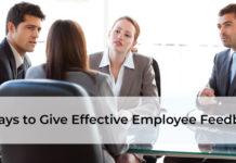 9 Ways to Give Effective Employee Feedback