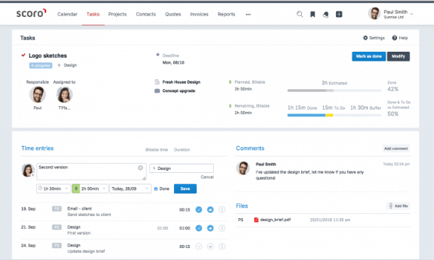 Scoro - Project Management Tool