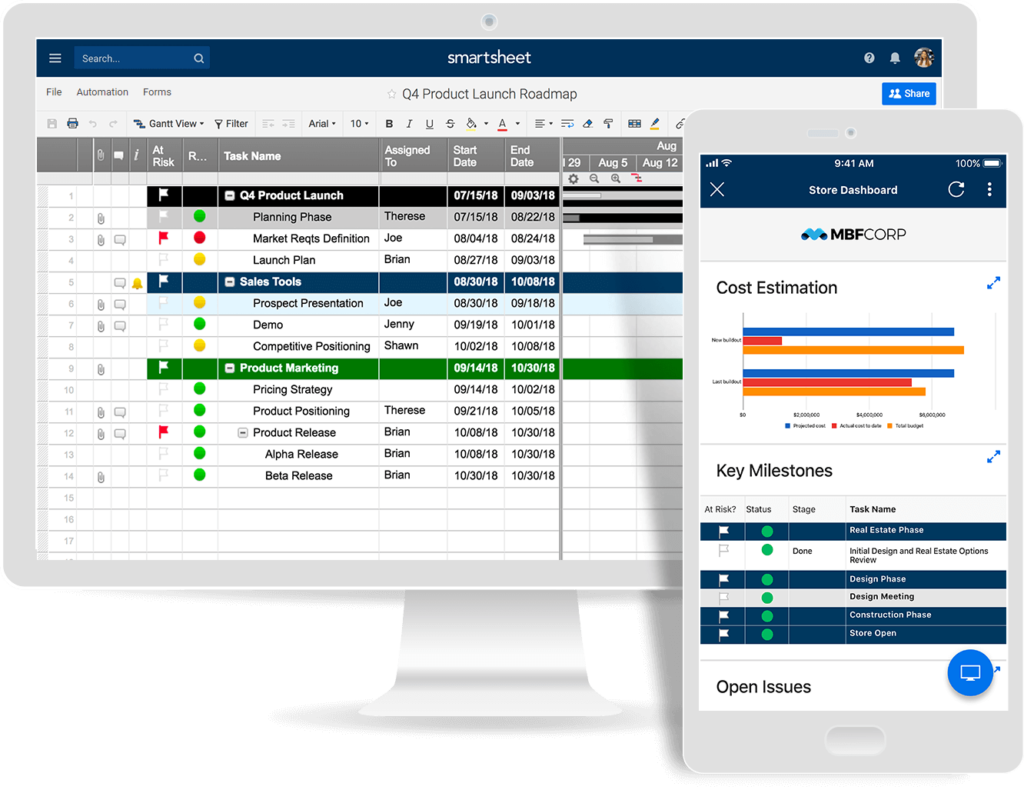 smartsheet project management tool
